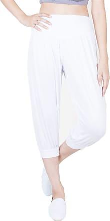 Lofbaz LOF Womens Capri Yoga Pants Rayon Spandex Plus Size - White 36 4XL