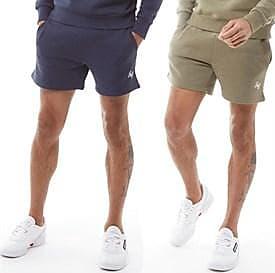 Jack & Jones two pack brushback fleece sweat shorts