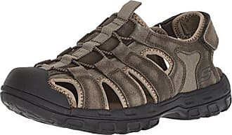 39a0eb8c2167 Skechers Mens Relaxed Fit 360 Gander-Selmo Fisherman Sandal Olive 13 D -  Medium