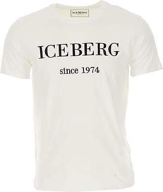 Iceberg T-Shirts für Herren, TShirts Günstig im Outlet Sale, Weiss, Baumwolle, 2019, M S XL