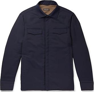 Loro Piana Tecnowool Padded Virgin Wool-blend Overshirt - Navy