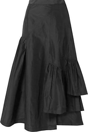 425fe3eba 3.1 Phillip Lim Asymmetric Ruffled Silk-taffeta Midi Skirt - Black