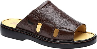 Doctor Shoes Antistaffa Chinelo Masculino 322 em Couro Floater Café Doctor Shoes-43