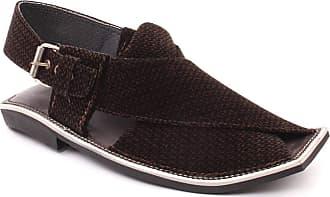 Unze Unze Mens IVAN Peshawari Velvet Sandals UK Size 6-11 - 004T SHAPE