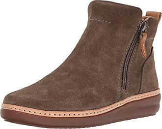 Clarks Womens Amberlee ROSI Ankle Boot, Olive Suede, 10 M US