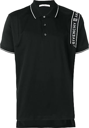 Givenchy side logo stripe polo shirt - Black