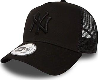 New Era Trucker Mesh Cap in Bundle with UD Bandana New York Yankees Los Angeles Dodgers - Ny Black/Black, OSFA (One Size fits all)