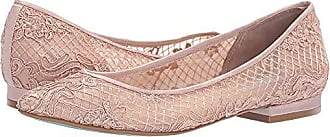 Blue by Betsey Johnson Womens SB-Lacey Ballet Flat, Pale Nude, 6.5 M US