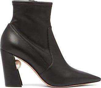 Nicholas Kirkwood Miri Faux Pearl-embellished Leather Boots - Womens - Black