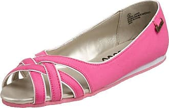 O'Neill Womens Jade Criss Cross Peep Toe Casual Flat,Hot Pink,8.5 M US