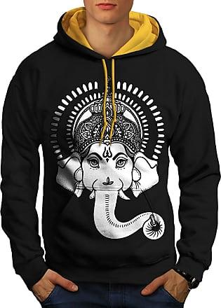 wellcoda Indian Yoga Mens Sweatshirt Budha Infinity Casual Jumper
