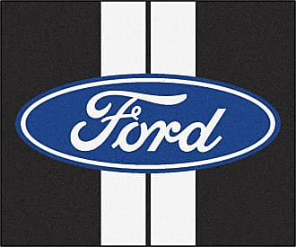Fanmats Fan Mats Ford Striped Oval Tailgater Utility Rug Black, Size: 5 x 6 ft. - 16160