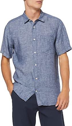 Only & Sons Mens onsLUKE SS Linen Shirt NOOS Casual, Blue (Dress Blues), XL