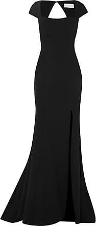 Rebecca Vallance Adriatic Open-back Crepe Gown - Black