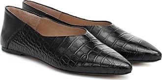 Joseph Anoud croc-effect leather ballet flats