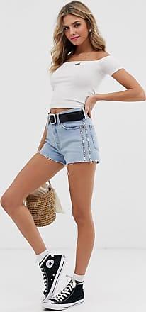 Levi's 501 - Pantaloncini di jeans a vita alta con fettucce-Blu