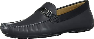 Driver Club USA Mens Leather Made in Brazil Side Metal Detail Driving Loafer, Grey Nappa, 10.5
