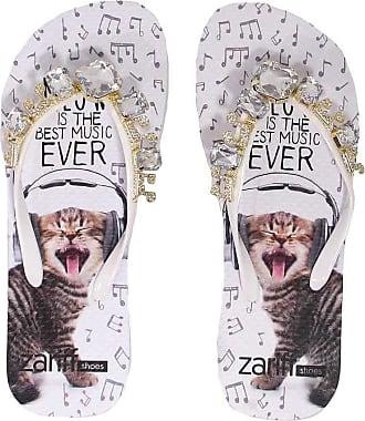 Zariff Chinelo Zariff Shoes Pedras Metais Gato