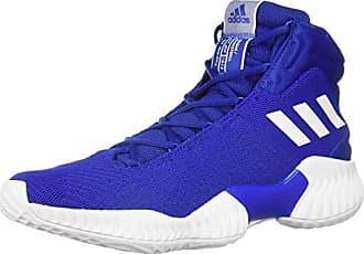 adidas Mens Pro Bounce 2018 Basketball Shoe, White/Collegiate Royal, 7 M US