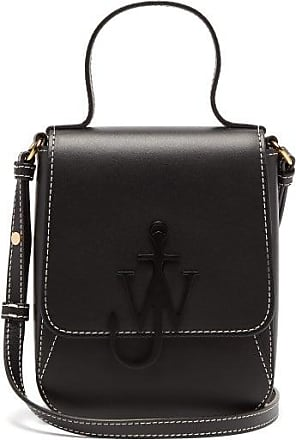 J.W.Anderson Anchor-logo Leather Mini Bag - Womens - Black