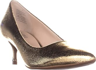 Kenneth Cole Womens Morgan Leather Closed Toe Classic Pumps, Gold, Size 6.0 US/US