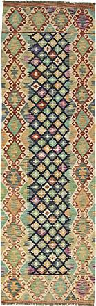 Nain Trading 252x79 Kilim Afghan Rug Runner Brown/Pink (Afghanistan, Handwoven, Wool)