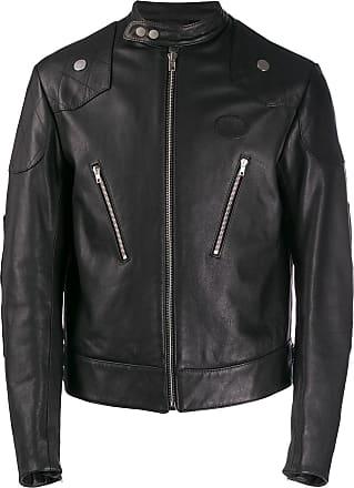 Zilver organic leather racing jacket - Black