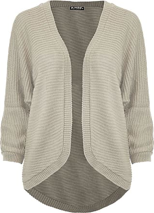 Be Jealous Womens Ladies Cape Cardigan Knitted Batwing Waterfall Open Front Poncho Sweater