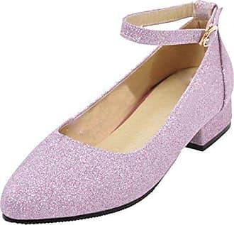 Erhalten Authentisch Glitzer Pumps Damen Chunky Heels Pumps mit 3cm Absatz  Bequem Schuhe Aiyoumei Vermarktbare Günstig 45befb007a