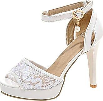 88889854727886 Damen Riemchen Plateau Sandalen Glitzer High Heels Sandaletten Lack Schuhe  Hochzeit Aiyoumei