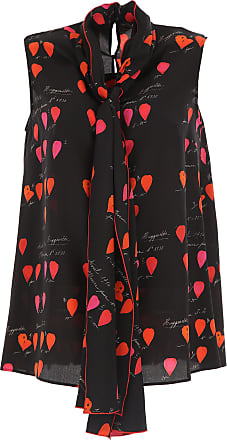 Top for Women On Sale, Black, Silk, 2017, 10 6 8 Alexander McQueen