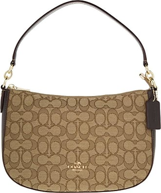 Coach Cross Body Bags Signature Chelsea Crossbody Bag Khaki Brown Beige