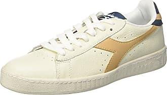 Unisex-Erwachsene Game L Low Waxed Niedrige Sneaker, Bianco (Bianco/Blu Mar Caspio/Bianco), 43 EU Diadora