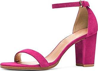 886466fa0b04bf Binying Damen Peep-Toe Knöchelriemchen Blockabsatz Schnalle Sandalen EU 38  Pink Mashiaoyi Zum Verkauf Rabatt