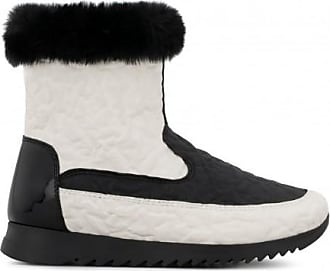 41b86c0458f16 Giuseppe Zanotti White rubber boot with faux-fur SAMMY JR