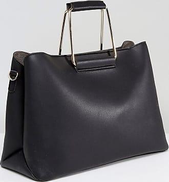 157a10044b39 Park Lane Maxi borsa strutturata con manico in metallo - Nero