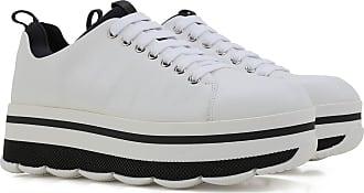 Sneaker für Damen, Tennisschuh, Turnschuh Günstig im Sale, Weiss, Leder, 2017, 36 36.5 37 37.5 38 38.5 39 40 41 Prada