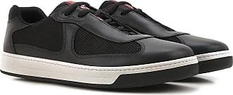 Sneaker für Damen, Tennisschuh, Turnschuh Günstig im Sale, Weiss, Leder, 2017, 39.5 40 Prada