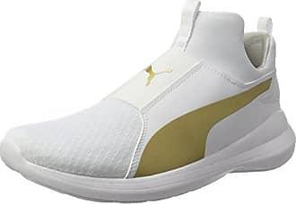 Puma REBEL DAMEN - Baskets montantes - puma white / puma team gold
