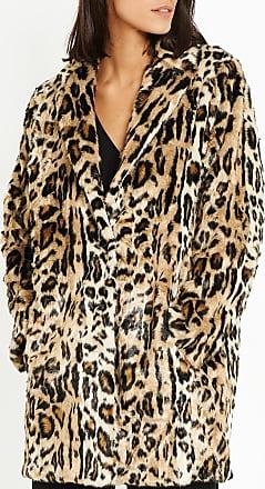 Manteau esprit fourrure léopard The Kooples en multicolore