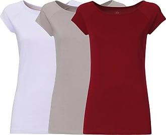 f96ea5d8be712d ThokkThokk 3er Pack TT01 Cap Sleeve T-Shirt 2.0 Damen Lila Grau Rot