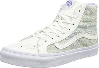 Vans UA Sk8-Hi Slim, Zapatillas Altas para Mujer, Verde (Bay/True White), 36 EU