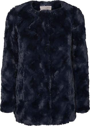 3326e85258e6 Vero Moda Manteau Curl Long Fur Jacket - Feminin - BLEU - VERO MODA