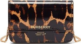 Burberry Jody Leopard-print Chain-strap Leather Wallet - Womens - Leopard