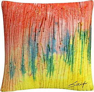 Trademark Fine Art Zigs Zag Red Yellow Abstract by Anthony Sikich