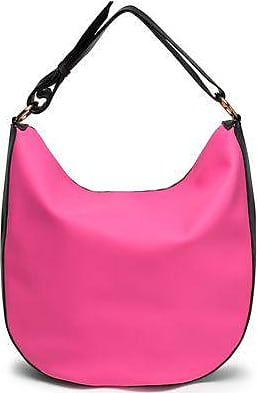 Marni Marni Woman Textured Leather-trimmed Faux Leather Shoulder Bag Bright  Pink Size 858f95a94a44d