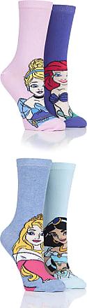 SockShop SOCKSHOP Ladies Disney Princesses Sleeping Beauty, Cinderella, Jasmine and Ariel Socks Pack of 4 Assorted 4-8