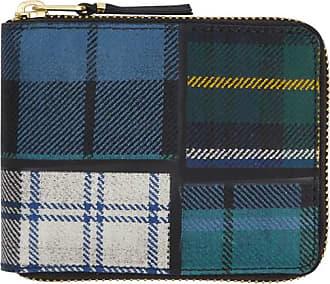 Comme Des Garçons Comme des garcons wallet Tartan patchwork zip wallet GREEN U