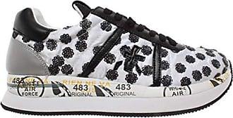 e7c7967f1080ee Premiata Damen Schuhe Sneakers Conny 3602 Leder Fabric Schwarz Weiß Neu