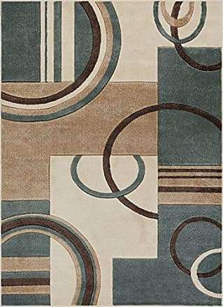 Well Woven 600145 Mint Galaxy Waves Modern Abstract Arcs and Shapes 53 x 73 Area Rug